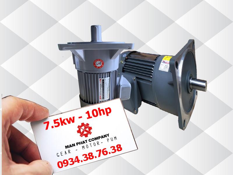 motor giảm tốc mặt bích 10hp 7.5kw
