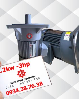 motor giảm tốc mặt bích 3hp 2.2kw
