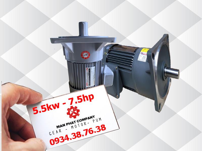 motor giảm tốc mặt bích 7.5hp 5.5kw