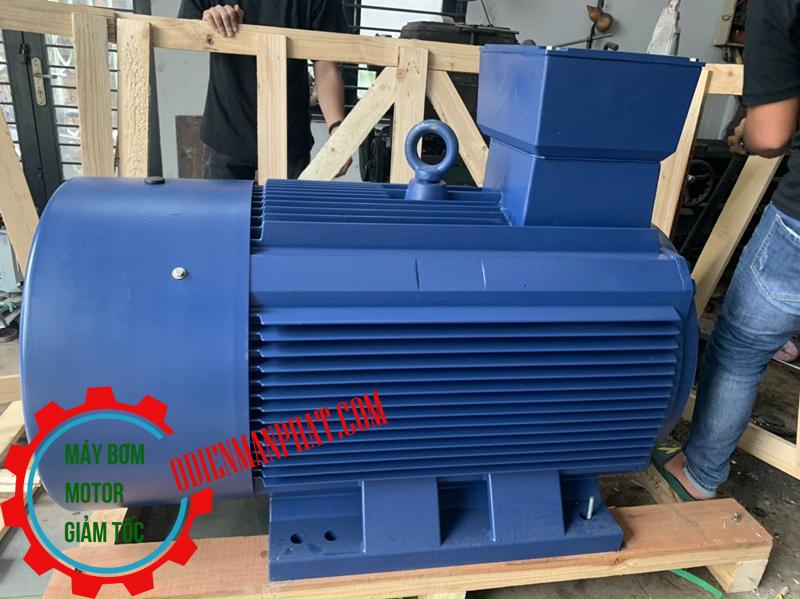 Motor động cơ điện 3PHA 160 KW - 200HP hoặc 200 mã lực (ngựa), Tốc độ vòng quay motor 1450 vòng/phút (4Pole hoặc 4 cực điện)